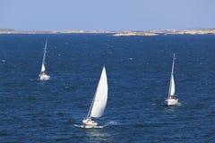 Barche a vela nell'arcipelago Fotografie Stock Libere da Diritti