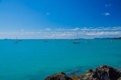 Barche a vela nelle isole di Pentecoste Fotografia Stock Libera da Diritti