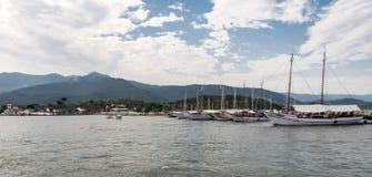 Barche a vela Paraty Rio de Janeiro Brazil Fotografia Stock Libera da Diritti