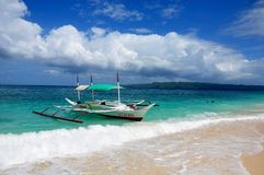 Barche a vela in Puka Beach Fotografie Stock