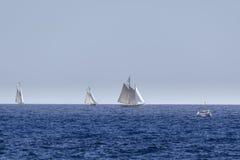 Barche a vela su una concorrenza immagini stock