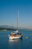 Barche a vela sul lago Woerther Fotografia Stock Libera da Diritti