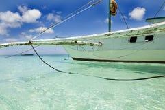 Barche a vela tradizionali su Boracay Immagini Stock