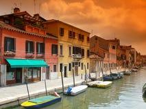 Barche a Venezia Fotografie Stock Libere da Diritti