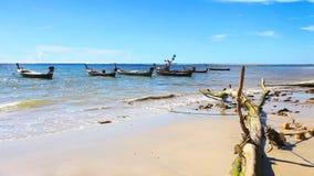 Barche vicino alla spiaggia. archivi video