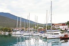 Barche in Volos Grecia Immagine Stock