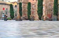 Barci undertecknar in Barcelona Royaltyfri Foto