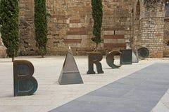 Barcino, Barcelona, Spanje Royalty-vrije Stock Foto
