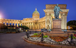 Barclay Monument at the Kazan Cathedral Royalty Free Stock Photos