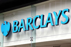 Barclays bank advertising sign Stock Images