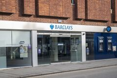 Free Barclays Bank Building Facade On A Empty Street In Grantham. Royalty Free Stock Image - 173736286