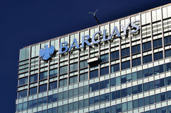 Barclays Bank Canary Wharf Zdjęcia Royalty Free