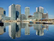Barclays Bank, HSBC och Citigroup kontor - London UK Royaltyfria Foton