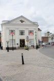 Barclays Bank i den Romsey storgatan arkivfoton