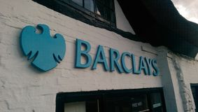 Barclays Bank-Logo Stockbild