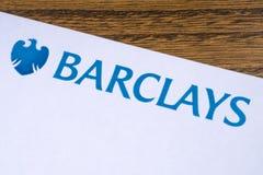 Barclays Bank-Logo stockfoto