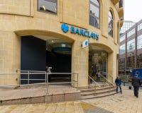 Barclays Bank på Colmore ror Royaltyfri Fotografi