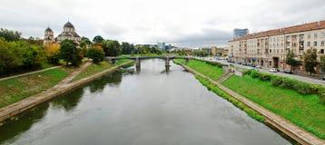 Barclays banka budynek biurowy i Vilnius educology uniwersytet Zdjęcie Royalty Free