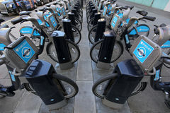 Barclays bikes Stock Photos