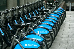 Barclays bikes Royalty Free Stock Images
