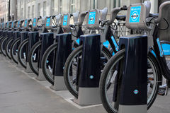 Barclays Bikes in London re Boris Johnson Royalty Free Stock Photography