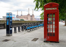 Barclays bikes in London Stock Images