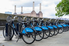 Barclays bikes in London Stock Image