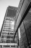 Barclays Bulding på det Churchill stället i Canary Wharf - LONDON - STORBRITANNIEN - SEPTEMBER 19, 2016 Arkivbild