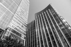 Barclays Bulding på det Churchill stället i Canary Wharf - LONDON - STORBRITANNIEN - SEPTEMBER 19, 2016 Arkivfoton