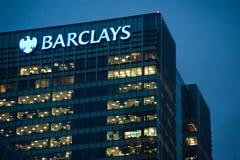 Barclays-bureaus in Londen Royalty-vrije Stock Foto's