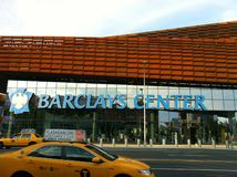 Barclays Center in downtown Brooklyn Stock Images