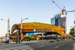 Barclays Center is a multi-purpose indoor arena in Brooklyn Stock Images