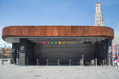 Barclays-Center-U-Bahnstation Lizenzfreies Stockbild