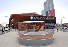 Barclays centrum, Brooklyn, Nowy Jork, 2/6/2018 obraz stock