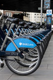 Barclays cycle hire Royalty Free Stock Photo