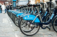 Barclays Cycle Hire Stock Photo