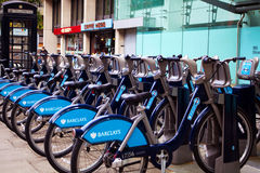 Barclays Cycle Hire (BCH) is a public bicycle sharing scheme that was launched on 30 July 2010 Stock Photos