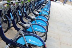 Barclays Cycle Hire Royalty Free Stock Photography