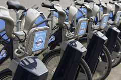 Barclays Cycle Hire, London Stock Photo