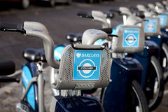 Barclays cycle hire scheme Royalty Free Stock Photography