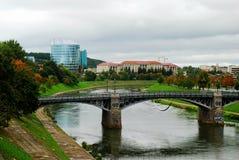 Barclays-de bouw van het bankbureau en Vilnius-educologyuniversiteit Royalty-vrije Stock Afbeelding