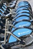Barclays fahren Miete, London rad Lizenzfreie Stockbilder