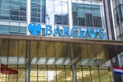 Barclays-Gebäude, Canary Wharf lizenzfreie stockfotos