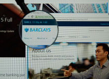 Barclays internet page Royalty Free Stock Images