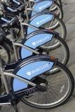 Barclays Jeździć na rowerze dzierżawienie, Londyn Obrazy Royalty Free