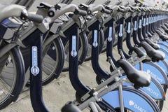 Barclays Jeździć na rowerze dzierżawienie, Londyn Fotografia Royalty Free