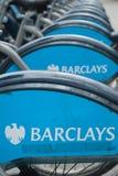 Barclays patrocinó ciclos Fotografía de archivo libre de regalías