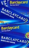 Barclays-Querneigung Stockfoto