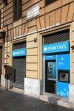 Barclays-Querneigung in Italien Stockfotografie