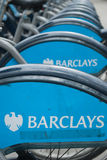 Barclays sponsored cycles Royalty Free Stock Photography